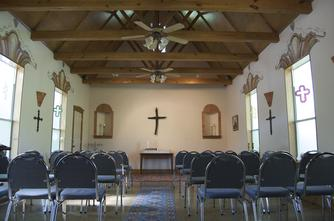 chapel comfortably seats 50